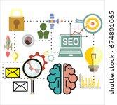 infographics background seo... | Shutterstock . vector #674801065