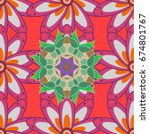 cute floral pattern in the... | Shutterstock . vector #674801767