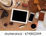 travel preparations  vacation...   Shutterstock . vector #674802349