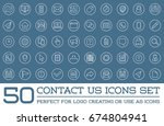 set of contact us service... | Shutterstock . vector #674804941