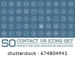 set of contact us service... | Shutterstock . vector #674804941