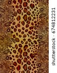 Brown Beige Animal Skin Spots...