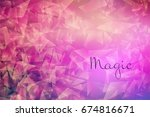 abstract background  glow of... | Shutterstock .eps vector #674816671