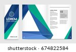 set of visual identity with... | Shutterstock . vector #674822584