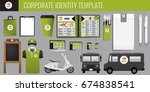 vector food corporate identity... | Shutterstock .eps vector #674838541