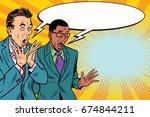 two businessmen shocked  multi