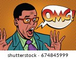 omg black man businessman pop... | Shutterstock . vector #674845999