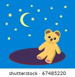 a teddy bear sitting on a round ... | Shutterstock . vector #67485220