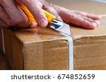 unboxing | Shutterstock . vector #674852659