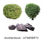 bushes and stones. | Shutterstock . vector #674858971
