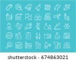 set vector line icons  sign and ... | Shutterstock .eps vector #674863021