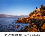 a classic new england... | Shutterstock . vector #674863189