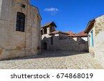 monastery of stavros. omodos... | Shutterstock . vector #674868019