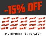 percents of discount. set of... | Shutterstock .eps vector #674871589