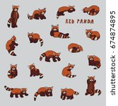 Red Panda Animal Cartoon Doodl...