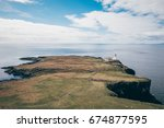 this is the lighthouse of neist ...   Shutterstock . vector #674877595