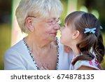 closeup summer portrait of... | Shutterstock . vector #674878135