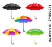 set of colored realistic open... | Shutterstock .eps vector #674881291
