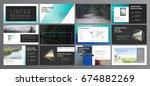 original presentation templates.... | Shutterstock .eps vector #674882269