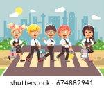 stock vector illustration... | Shutterstock .eps vector #674882941