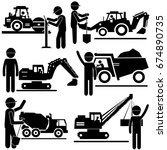 construction working process.... | Shutterstock .eps vector #674890735