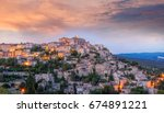 famous old village gordes in... | Shutterstock . vector #674891221