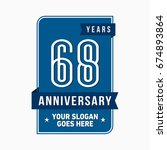 68 years anniversary design... | Shutterstock .eps vector #674893864