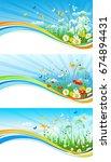 summer or spring template for... | Shutterstock .eps vector #674894431