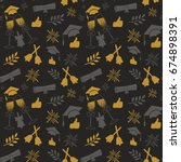 seamless graduation pattern.... | Shutterstock .eps vector #674898391