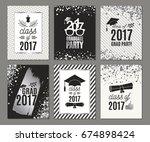 graduation class of 2017 silver ... | Shutterstock .eps vector #674898424