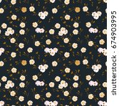 floral pattern. seamless small... | Shutterstock .eps vector #674903995