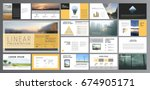 original presentation templates.... | Shutterstock .eps vector #674905171