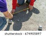 petanque  motion blur metallic... | Shutterstock . vector #674905897
