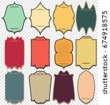 set of vintage labels. vintage... | Shutterstock . vector #674918575