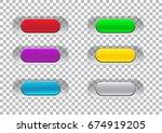 transparent click here button... | Shutterstock .eps vector #674919205