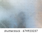 steel diamond plate texture and ... | Shutterstock . vector #674923237