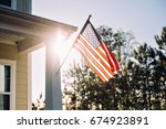 front side of typical american... | Shutterstock . vector #674923891