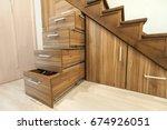 modern architecture interior... | Shutterstock . vector #674926051