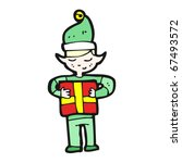 christmas elf cartoon | Shutterstock .eps vector #67493572