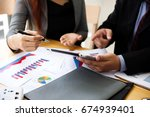 business people at working with ... | Shutterstock . vector #674939401