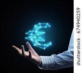 close of businessman hand... | Shutterstock . vector #674940259