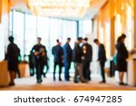 abstract blur group of people... | Shutterstock . vector #674947285