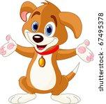 Illustration Of Cute Puppy...