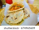 gorditas in mexico | Shutterstock . vector #674965609