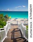 paradise beach  relax place.... | Shutterstock . vector #674968099