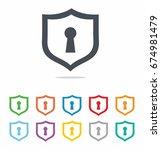 shield security vector icon... | Shutterstock .eps vector #674981479