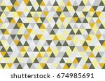 abstract retro pattern of... | Shutterstock .eps vector #674985691