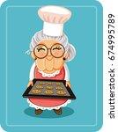 Grandma Baking Chocolate Chips...