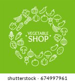 vegetables fresh food shop... | Shutterstock .eps vector #674997961