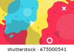 abstract pop art color... | Shutterstock .eps vector #675000541